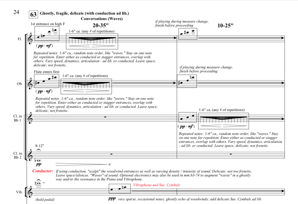 """Excerpt from the Score of """"Respiration"""""""